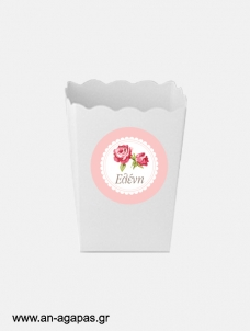 ΑΝ ΑΓΑΠΑΣ – Round stickers Romantic Flowers