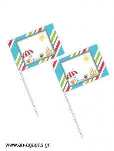 Toothpick flags On the Beach