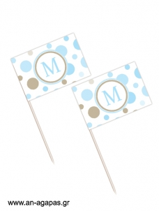Toothpick flags Polka Dot Fun