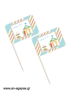 Toothpick flags Surf Club