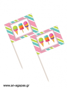 Toothpick flags Sweet Ice Creams