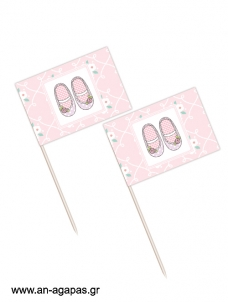 Toothpick flags Chic Ballerinas