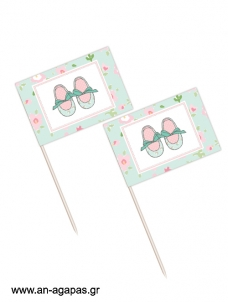 Toothpick flags Flowery Shoes