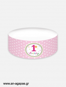 Cake banner 1st Birthday Girl