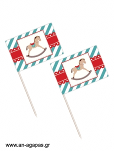 Toothpick Flags Rocking Christmas