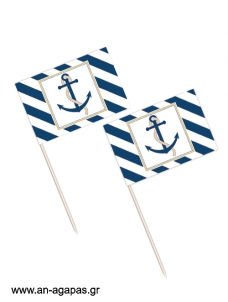 Toothpick flags Nautical Gold