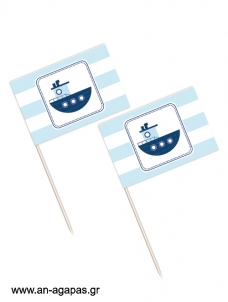 Toothpick flags Summer Boat