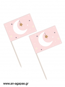 Toothpick flags Little Star Girl