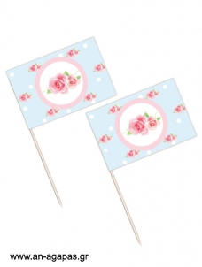 Toothpick flags Shabby Chic
