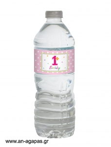 Water Label 1st Birthdy Girl