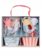 Meri Meri Cupcake Kit Let's Be Mermaids