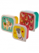 Lunch Boxes Lama Σετ των 3
