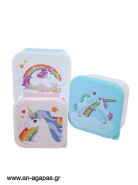 Lunch Boxes Unicorn Σετ των 3