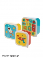 Lunch Boxes Space Σετ των 3