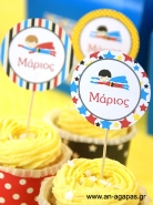Cupcake Toppers Super Boy