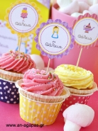 Cupcake Toppers Sweet Girl