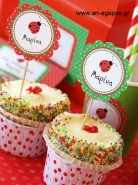 Cupcake Toppers Πασχαλίτσα