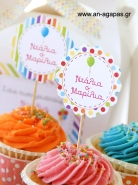 Cupcake Toppers Rainbow