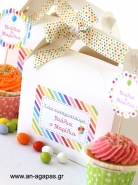 Treat Box Label Rainbow