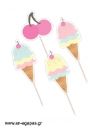 Cupcake Toppers Ice Cream