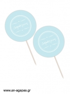 Cupcake Toppers  Blue Star