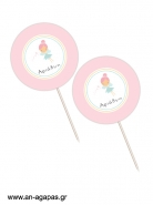Cupcake Toppers  Pink Fairy