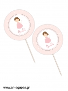 Cupcake Toppers Princess In Pink