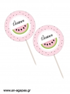 Cupcake Toppers Watermelon