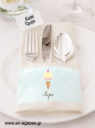 Napkin Ring Ice Cream