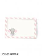 Food Labels Baby Pink Elephant