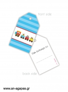 Gift Tags Baby Train