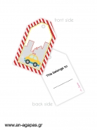 Gift tags Cars