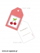 Gift tags Cherry
