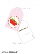 Gift tags Strawberry