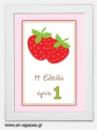 Party sign Strawberry
