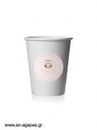 Round Stickers Little Owl Pink