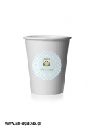 Round Stickers Little Owl Blue