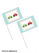 Toothpick Flags Cars