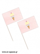 Toothpick Flags Ice Cream