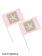 Toothpick flags Starfish
