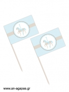 Toothpick flags Blue Carousel