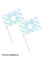 Toothpick flags Blue Star