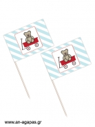 Toothpick flags Red Wagon