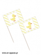 Toothpick flags Little Duck