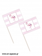 Toothpick flags Flamingo