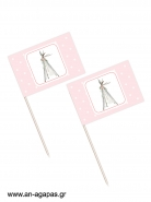 Toothpick flags Boho Girl