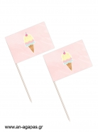 Toothpick flags Pastel Ice-cream