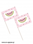 Toothpick flags Watermelon