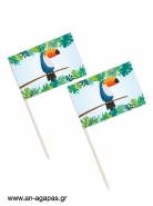 Toothpick flags Tropical Jungle
