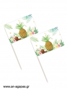 Toothpick flags Tropical Pineapple